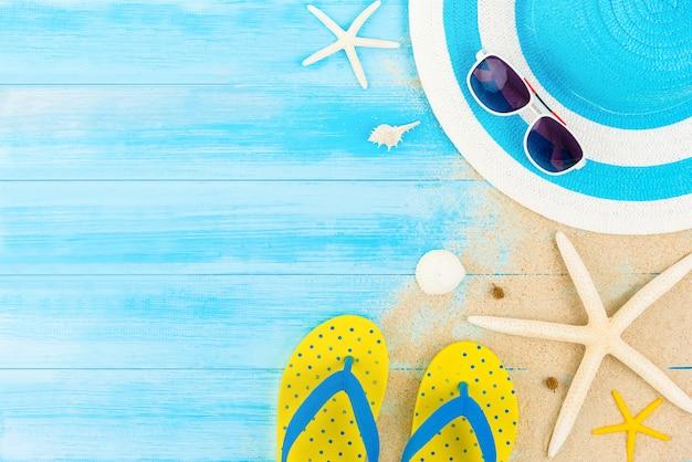 Fundo de praia de férias de verão colorido