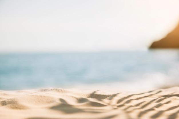 Fundo de praia turva