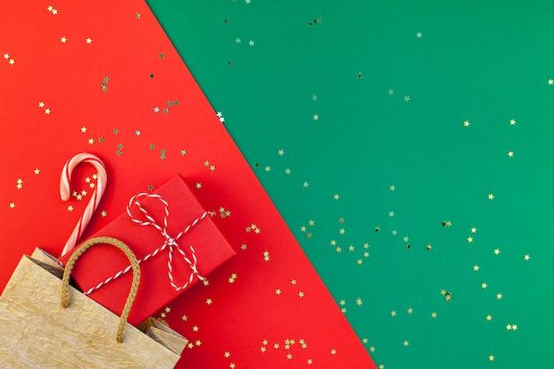 Fundo de preparação de presentes de ano novo ou natal