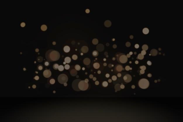 Fundo de produto de luzes de bokeh