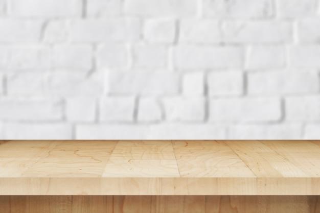 Fundo de produto de parede de tijolo branco