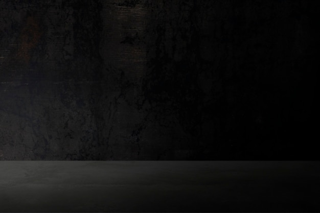 Fundo de produto de parede preto escuro liso