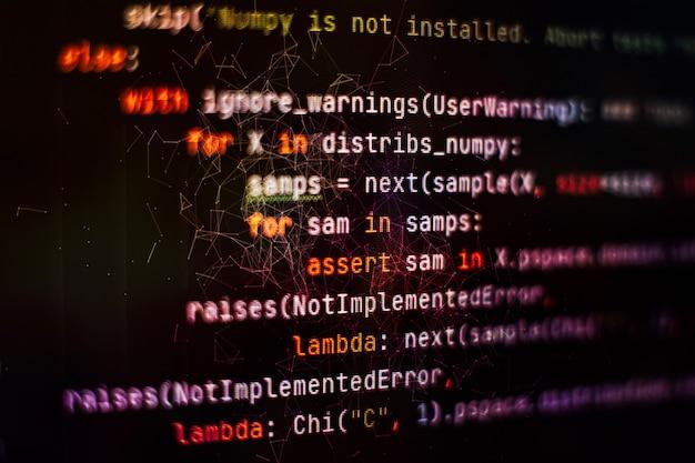 Fundo de programação de software