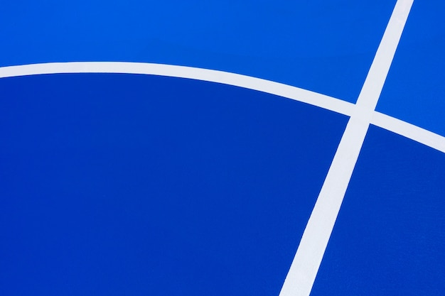 Fundo de quadra de basquete azul intenso