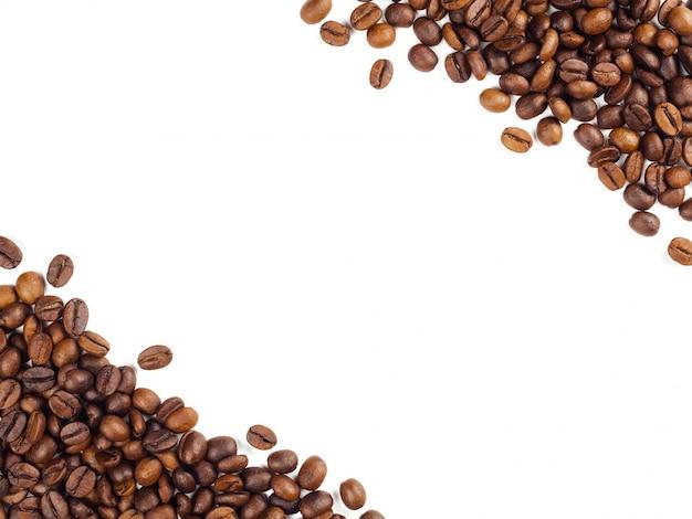 Fundo de quadro de grãos de café tailandês torrado