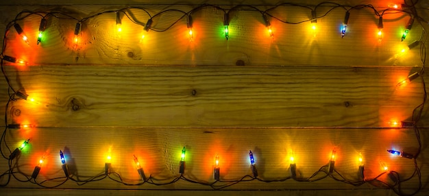 Fundo de quadro de luzes de natal.