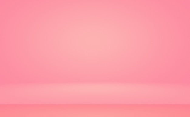 Fundo de quarto estúdio abstrato vazio suave rosa claro usar como montagem para displaybannertemp de produto ...
