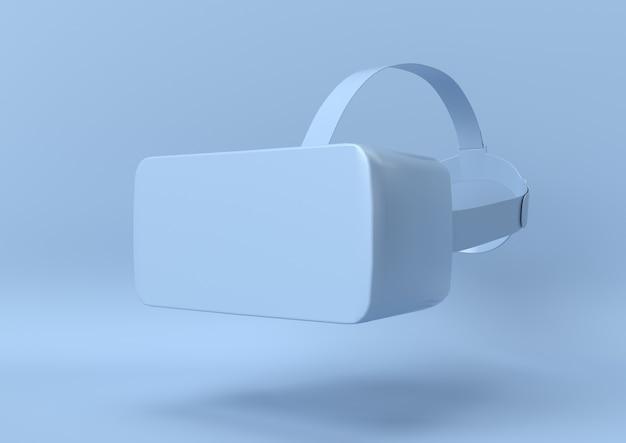 Fundo de realidade virtual abstrato cor azul, minimalista moderna, renderização em 3d