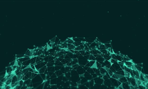 Fundo de rede abstrata de plexo