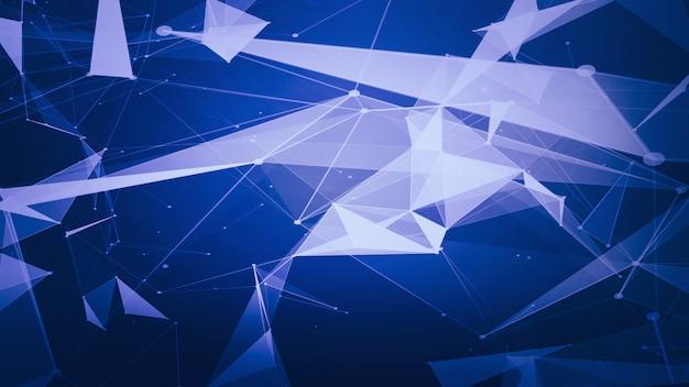 Fundo de rede futurista abstrata tecnologia e ciência fundo