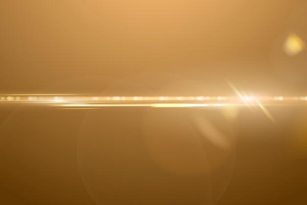 Fundo de reflexo de lente anamórfica quente