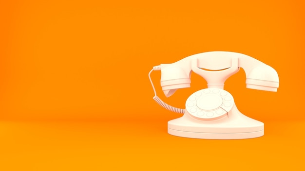Fundo de renderização 3d clássico do telefone