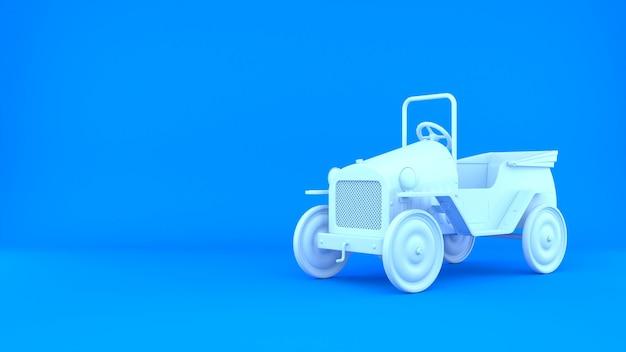 Fundo de renderização 3d do carro clássico