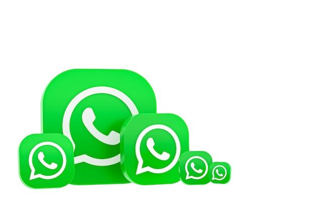 Fundo de renderização do ícone 3d do logotipo do whatsapp
