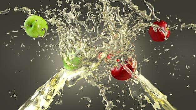 Fundo de respingo de suco de maçã