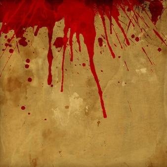 Fundo de respingos de sangue de grunge