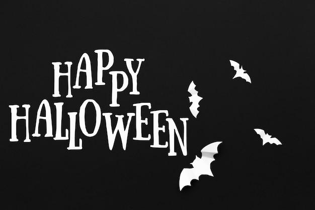 Fundo de rotulação de feriado de halloween
