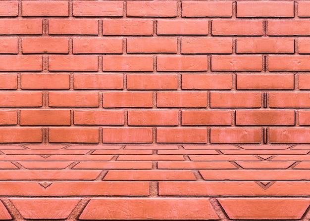 Fundo de sala de parede de tijolo laranja