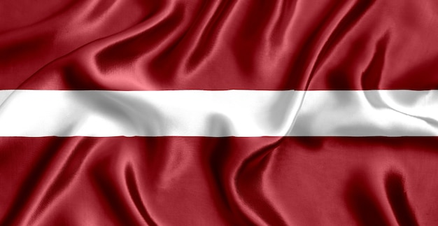 Fundo de seda com bandeira da letônia