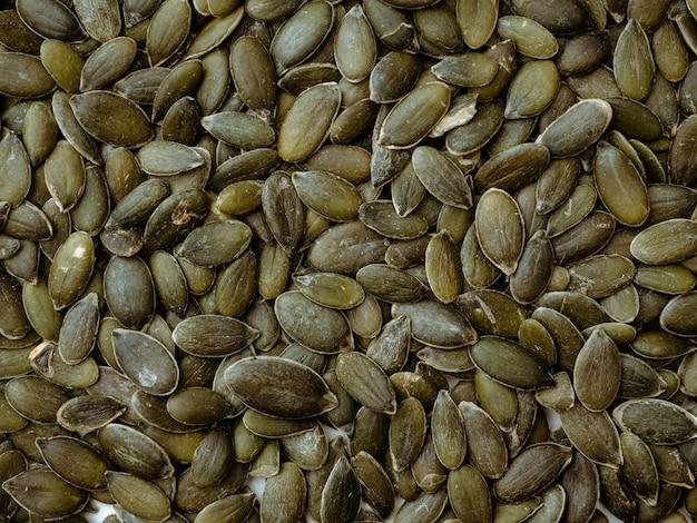 Fundo de sementes de abóbora, vista superior