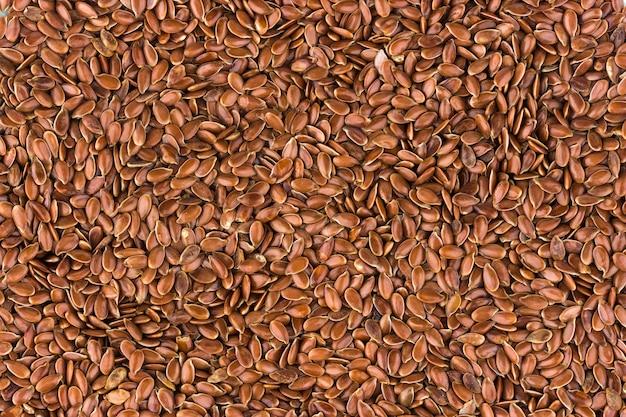 Fundo de sementes de linho, textura de linhaça