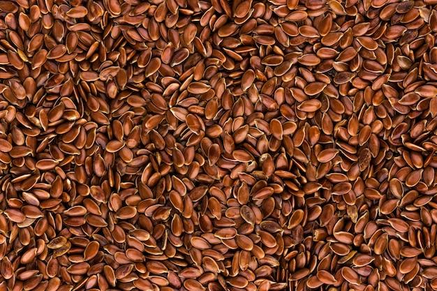 Fundo de sementes de linho