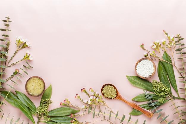 Fundo de spa com espaço para um texto. spa wellnes cartão de felicitações. tema de aromaterapia, cosmético feito à mão