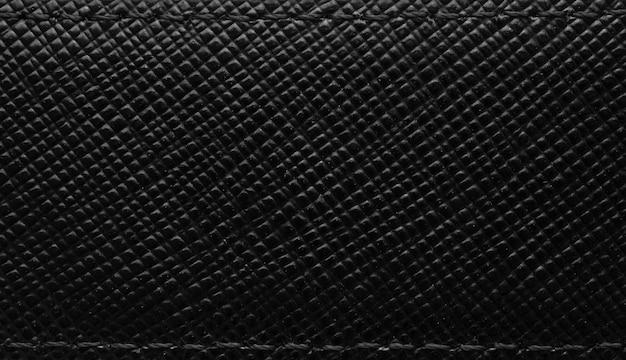 Fundo de superfície de textura de couro preto de luxo
