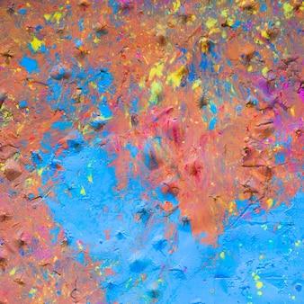 Fundo de superfície pintada multicolor