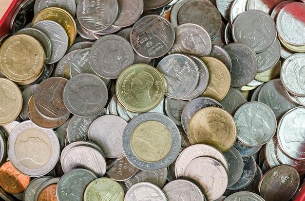 Fundo, de, tailandia, notas, e, moedas