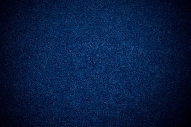 Fundo de tapete azul, fundo de textura de tecido azul, closeup