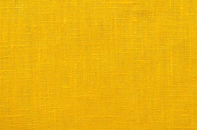 Fundo de tecido de linho amarelo altamente detalhado