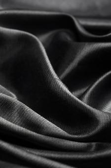 Fundo de tecido de seda preta