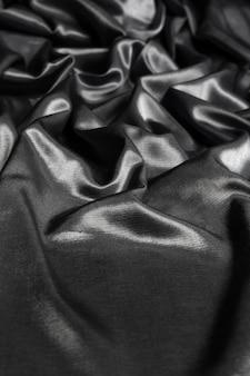Fundo de tecido de seda preto
