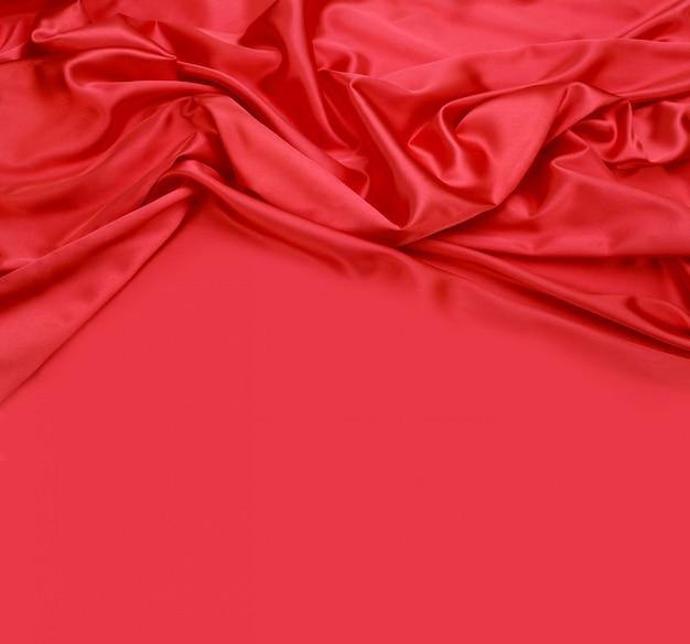 Fundo de tecido de seda vermelho