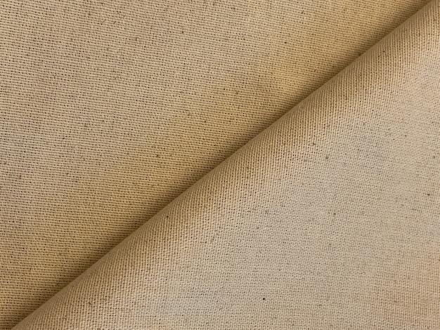 Fundo de tecido dobrado com textura de lona de estilo antigo