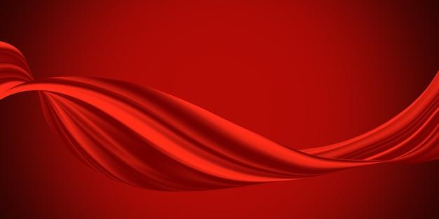 Fundo de tecido luxuoso vermelho com espaço de cópia