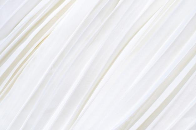 Fundo de tecido plissado branco