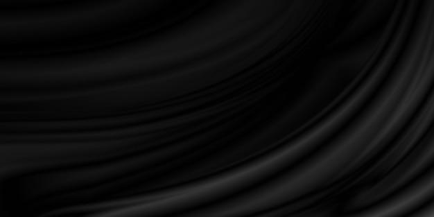 Fundo de tecido preto luxo com copyspace
