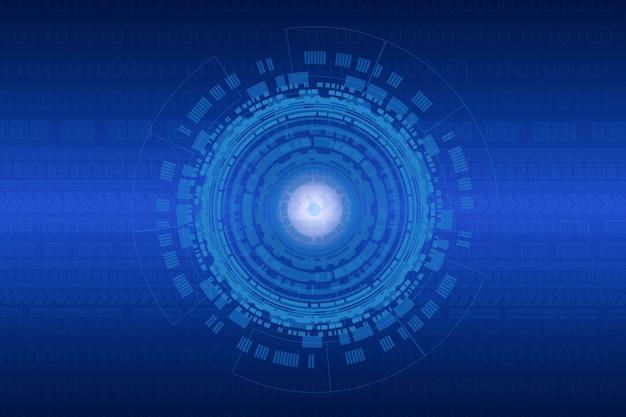 Fundo de tecnologia abstrata para internet das coisas