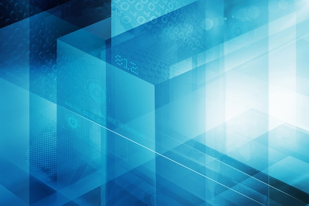 Fundo de tecnologia cúbica abstrata digital