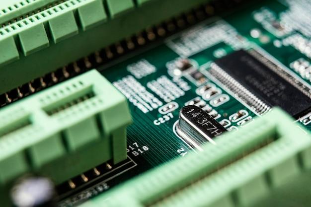 Fundo de tecnologia de alto ângulo