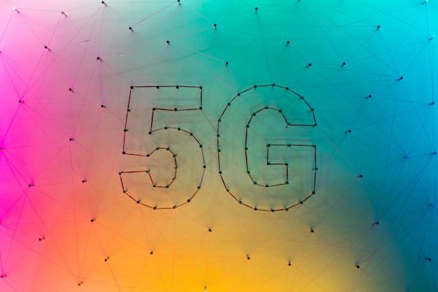 Fundo de tecnologia de dados 5g com gradiente