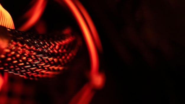 Fundo de tecnologia de luz vermelha