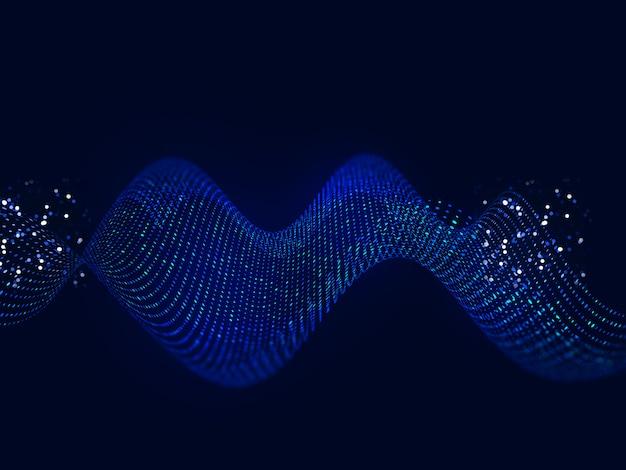 Fundo de tecnologia digital com pontos fluidos