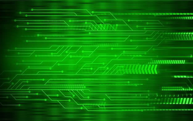 Fundo de tecnologia futura de circuito cyber seta verde