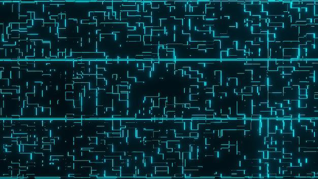Fundo de tecnologia futurista abstrato holograma