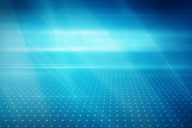 Fundo de tecnologia gráfico abstrato com pontos de grade no solo