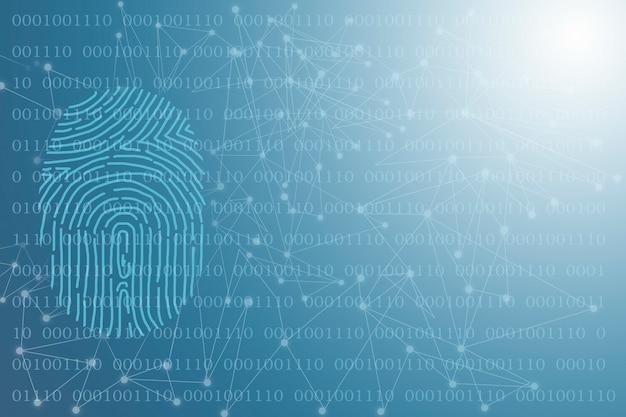 Fundo de tecnologia proteção de segurança para projetos de negócios e internet.