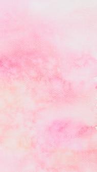Fundo de telefone texturizado aquarela rosa abstrato